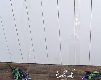 Acrylic Wedding Guest Book - Wedding Guest Book Alternative - Acrylic Wedding Sign - Guest Book Idea