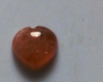 10 Pieces Natural Sunstone  heart shape cabochon calibrated size