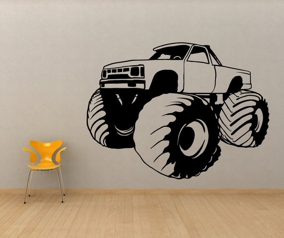 Vinyl Wall Decal Sticker Monster Truck OSMB591s