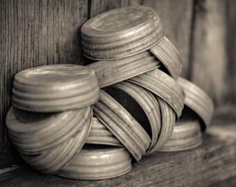 Zinc lid,shabby chic,vintage,rustic lid,mason jar lid,candle jar lid,galvanized metal lid,small mouth mason jar.Metal lid, rustic lid, best