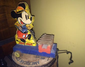 Mickey Mouse-Walt Disney Pull Toy parts