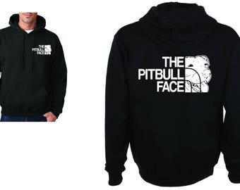 The Pitbull Face Inspired Heavy Blend Adult and Youth Hooded Sweatshirt