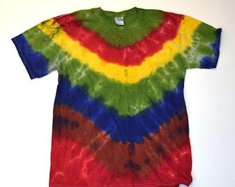 Shaman Stripes ~ Tie Dye T-Shirt (Gildan Ultra Cotton Size M) (One of a Kind)