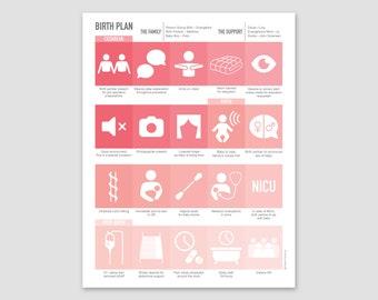 Custom Cesarean Birth Plan / Blush Hues