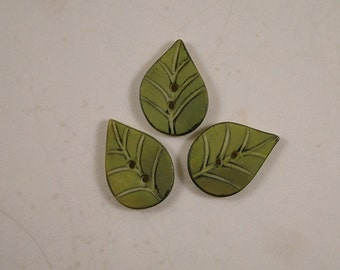 Leaf Buttons set of 3