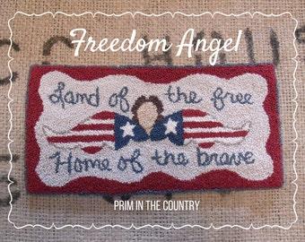 Freedom Angel Punch Needle E-Pattern