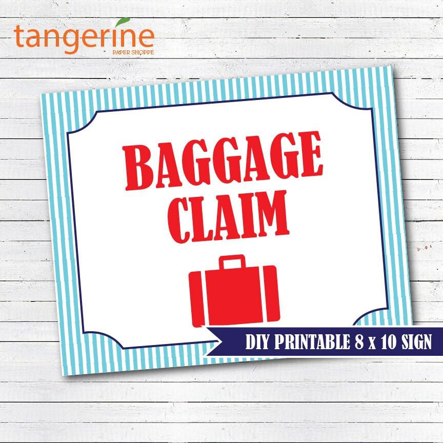 Train baggage claim sign pdf printable instant download zoom stopboris Images