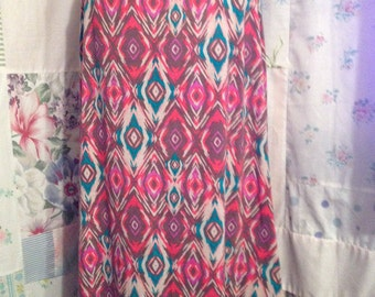 LARGE/EXTRA LARGE, Skirt Comfy Bohemian Hippie Boho Long Stretch Yoga Waist Skirt