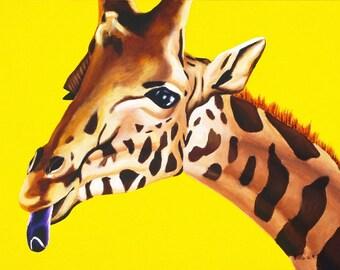 Safari Nursery Art, Gender Neutral Baby, Animal Print, Giraffe Nursery Art, Childrens Wall Art, Zoo Animal Nursery Print, Giraffe Wall Art