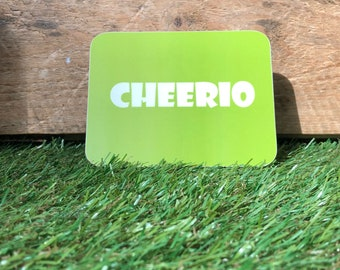 Cheerio coaster