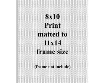 Add a Mat 8x10 up to 11x14 - Fine Art Photography Print Picture Matting