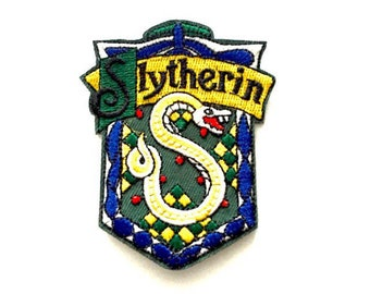 """Slytherin Iron/sewn on Embroidered patch (W=2.5"""" x L=3.0"""")"""