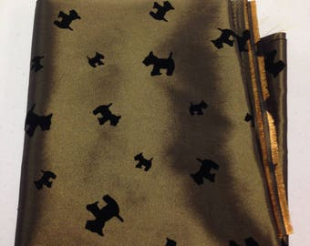 Bronze Scotty Dog Fabric