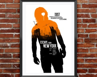 Escape From New York Movie Poster 12X18""