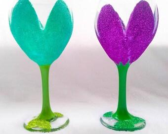 Flower Wine Glass 18oz
