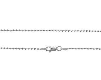 Add Stainless Steel Ball Chain to Your Message In A Bottle Order