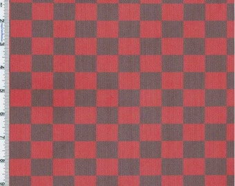 Red/Black Check Mate Poly Mesh, Fabric By The Yard