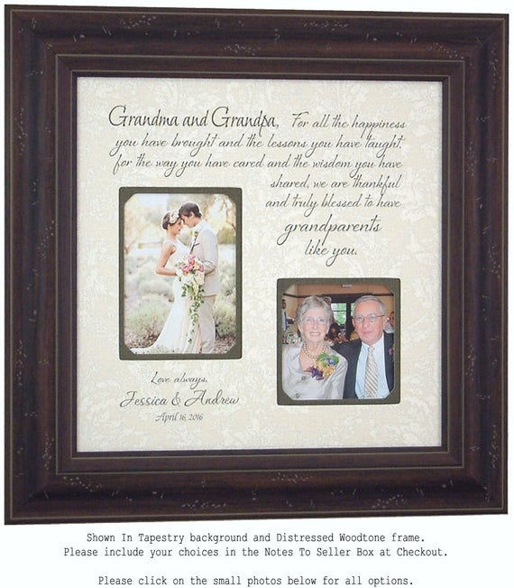 Grandparents Gift Personalized Wedding Frame Wedding Gift