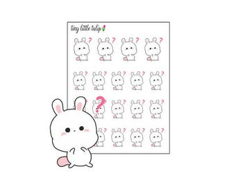 Planner Stickers Bunny Thinking