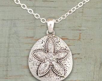 Sand Dollar Rhinestone Necklace