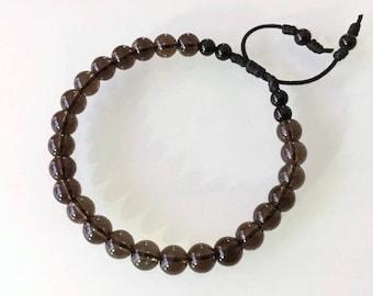 Smoky Quartz and Black Tourmaline Bracelet (GESTR-0016)