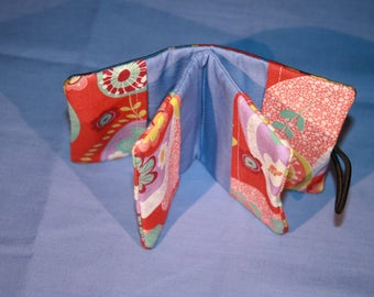 Fabric, six card holder
