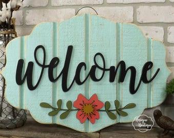 Hanging Door Sign Etsy