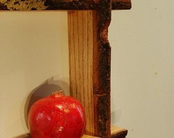 Oak Live Edge Shelf No. 1