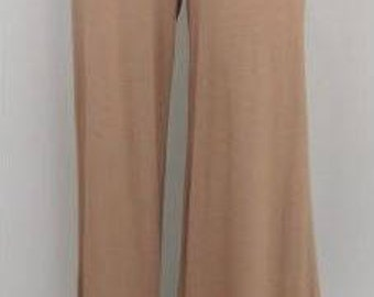 Ladies Vintage Lace Ruffle Pants – Taupe