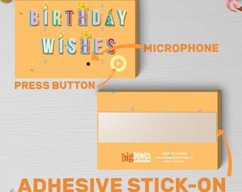 Birthday Wishes Gift Tag With Sound   Birthday Tag, Birthday Gift Tag, Birthday Gift, Birthday Musical Box   Sound Tag Stick-on 00064