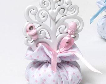 Baptism Favor bags birth Baby baby tree Life 7x9 Confetti