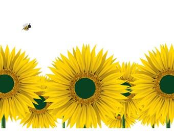 Sunflower art etsy sunflower art print sunflower poster sunflower art sunflower painting flower art mightylinksfo Gallery