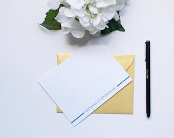 Personalized Stationery, Monogram Stationery, Custom Stationery, Mens Stationery, Flat Notecards