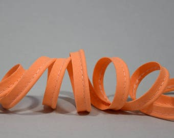 4 m of cotton piping apricot - Orange 10mm