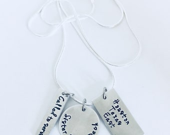 Called to Serve LDS Mormon Missionary Hand Stamped Necklace with Mission Called to Serve in