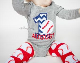 Boys Birthday Baseball Shirt - Embroidered Baseball Shirt - Personalized - Birthday - Shirt / ANY AGE