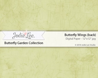 Butterfly Garden Digital Download Paper 12x12 inches Butterfly Wings (back) by Jodie Lee