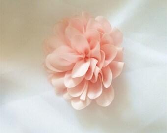 pink rose flower, 6.5cm diameter vintage rosette flowers appliques, pink rose flowers one piece