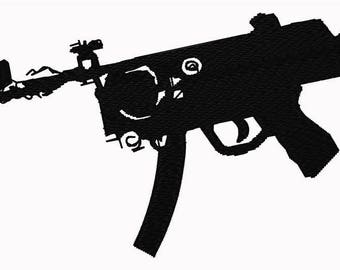 Machine Gun Embroidery File