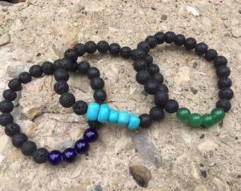 Lava Bead Aromatherapy Diffusing Bracelets