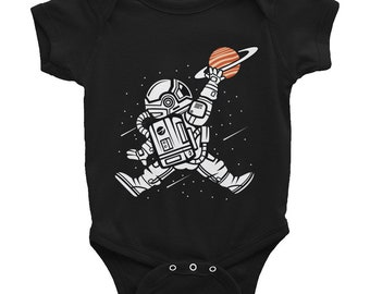 Youth Space Jump Jam Basketball Dunk Planets Moon Infant Bodysuit Onesie