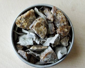 Black Copal and White Sage Resin Incense - natural incense, loose incense, granular incense, Ritual incense, sacred space, meditation