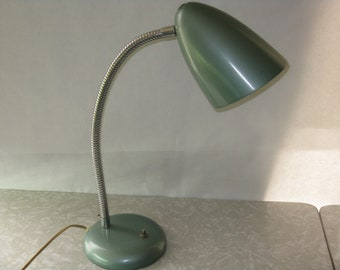 Vintage goose neck desk lamp metal