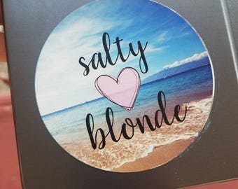 Salty Blonde blue shoreline
