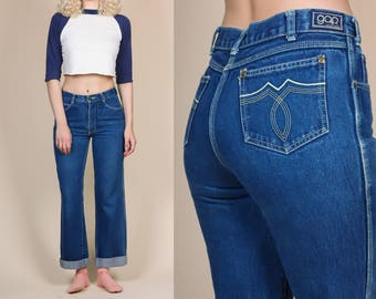 Vintage Gap Jeans - Small | 80s Dark Wash Blue Bootcut High Waisted Denim Pants