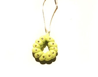 Polymer Clay Green Pendant