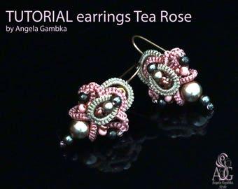Tutorial Earrings Tea rose.