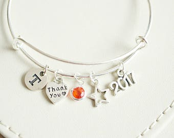 bridesmaid bracelet, bridesmaid bangle, bridesmaid jewelry, bridesmaid bracelet set, thank you for being my bridesmaid , thank you gift
