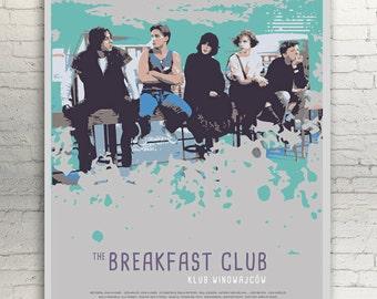 The BREAKFAST CLUB - alternative movie poster / print Emilio Estevez Paul Gleason Anthony Michael Hall Judd Nelson John Kapelos Ally Sheedy