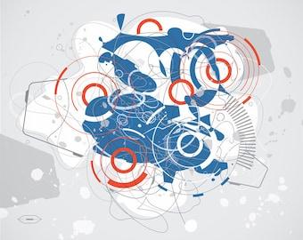 Suzukigo - Japanese Techno Graffiti Abstract Print